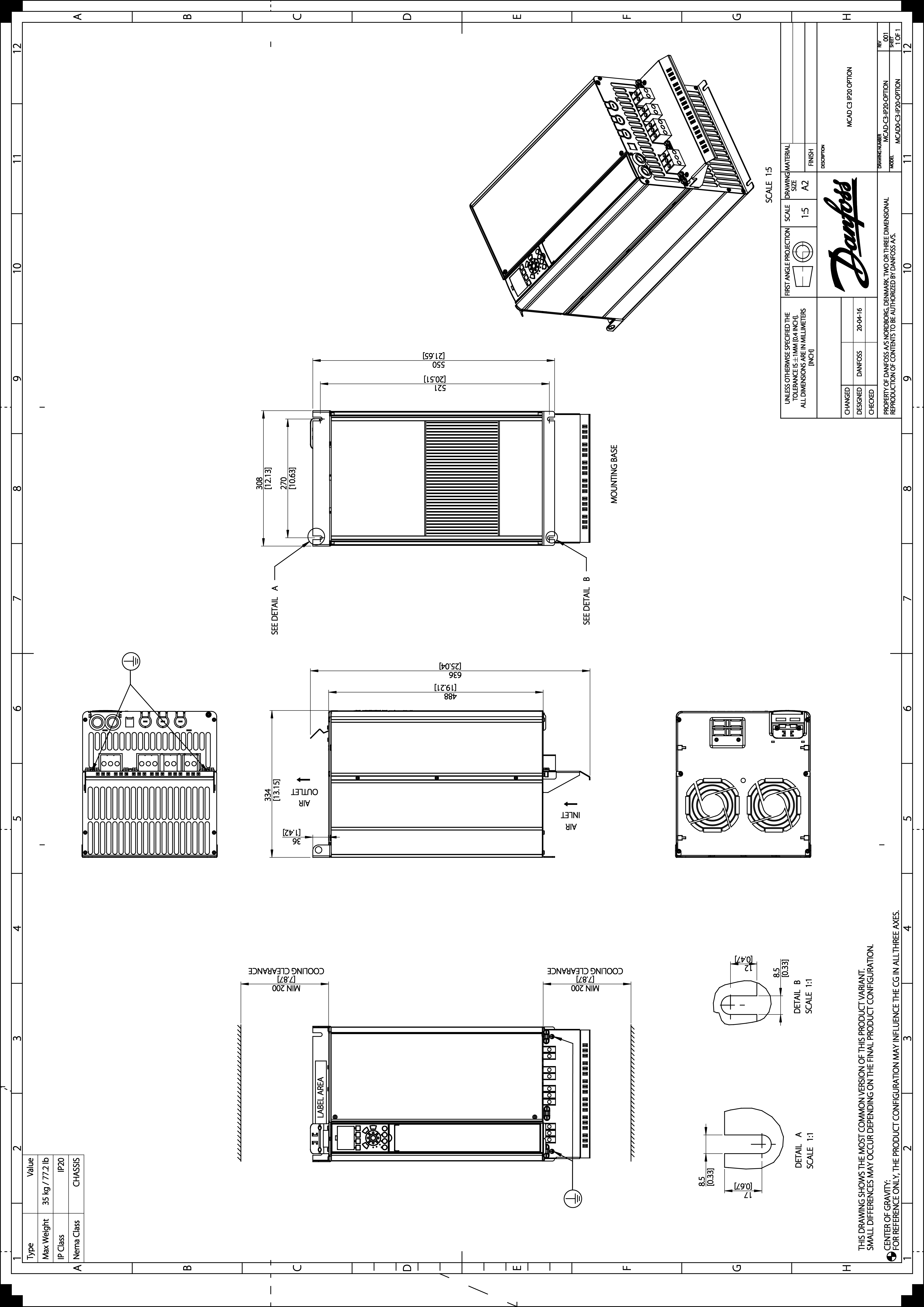 Enhanced Vlt Hvac Drive Fc 102 Danfoss Drawing Notes 27 Mb